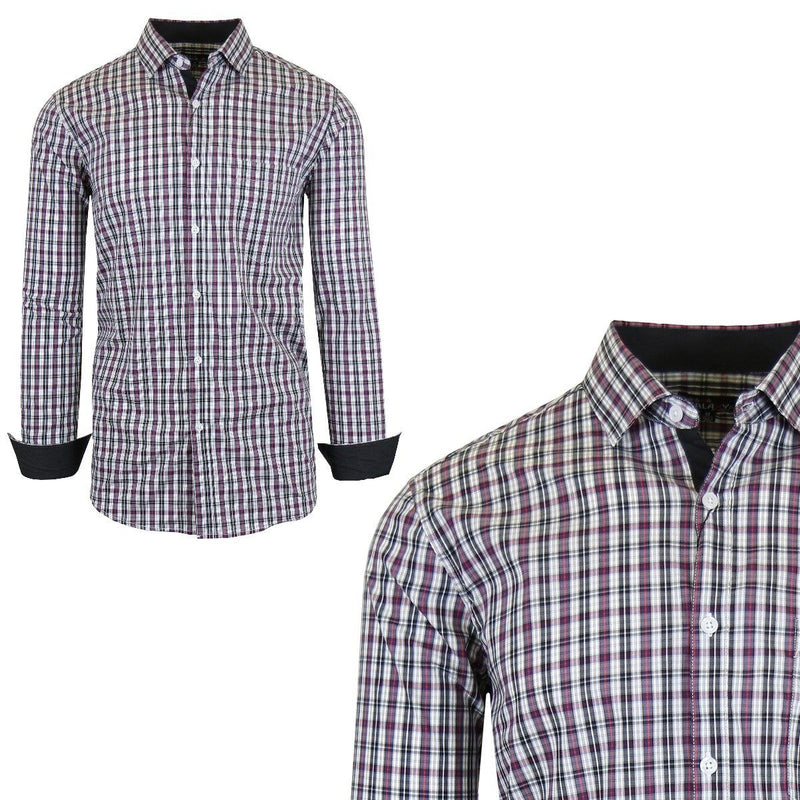 Men's Quick Dry Slim Fit Stretch Dress Shirts Men's Apparel S No. 11 - DailySale