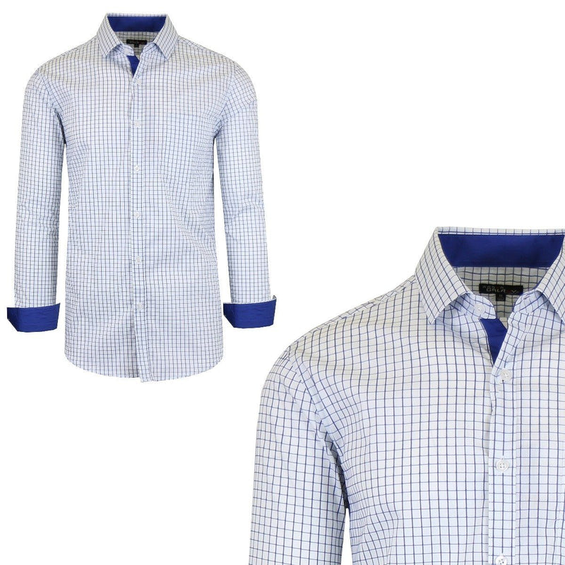 Men's Quick Dry Slim Fit Stretch Dress Shirts Men's Apparel S No. 15 - DailySale