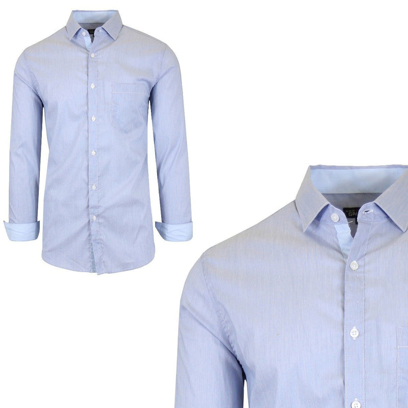 Men's Quick Dry Slim Fit Stretch Dress Shirts Men's Apparel XXL No. 1 - DailySale