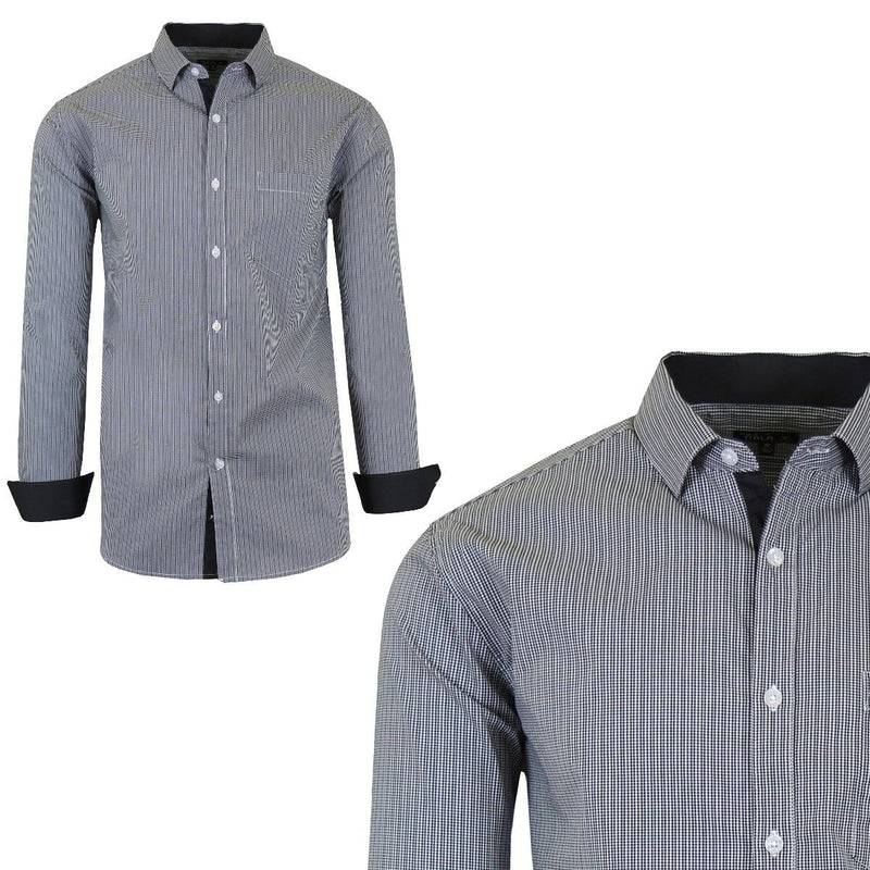 Men's Quick Dry Slim Fit Stretch Dress Shirts Men's Apparel XXL No. 3 - DailySale