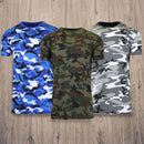 Men's Short Sleeve Crew Neck Camo Printed Tee Men's Apparel - DailySale