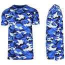Men's Short Sleeve Crew Neck Camo Printed Tee Men's Apparel M Blue Camo - DailySale