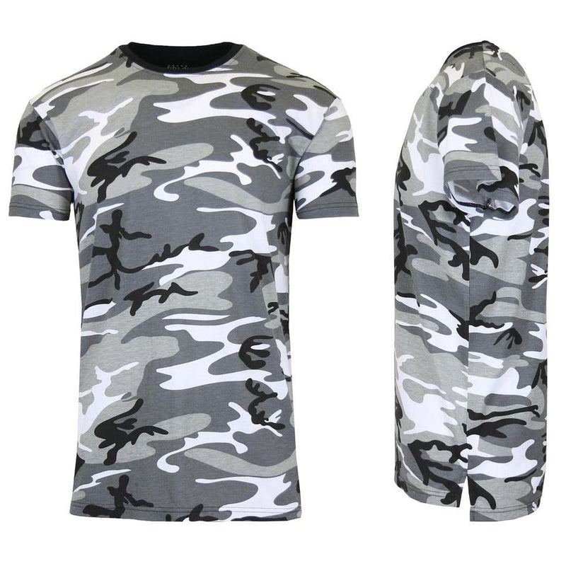 Men's Short Sleeve Crew Neck Camo Printed Tee Men's Apparel M Urban Camo - DailySale