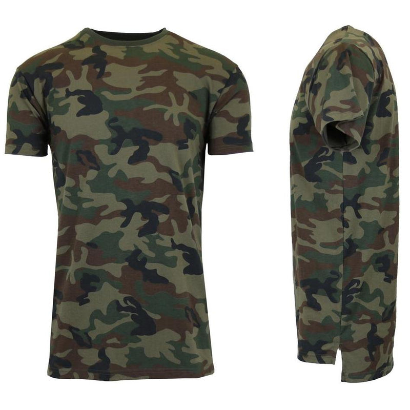 Men's Short Sleeve Crew Neck Camo Printed Tee Men's Apparel M Woodland Camo - DailySale
