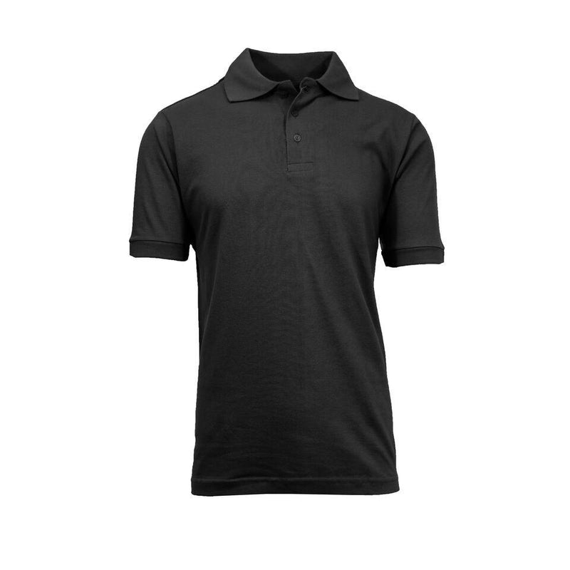 Men's Short-Sleeve Pique Polo Shirts - Assorted Colors and Sizes Men's Apparel XL Black - DailySale