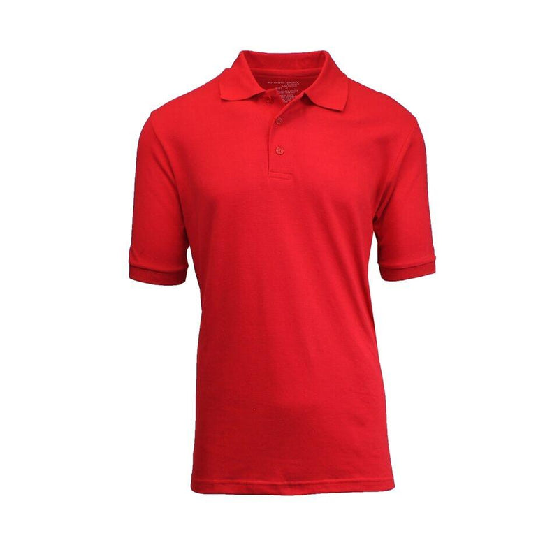 Men's Short-Sleeve Pique Polo Shirts - Assorted Colors and Sizes Men's Apparel XL Red - DailySale
