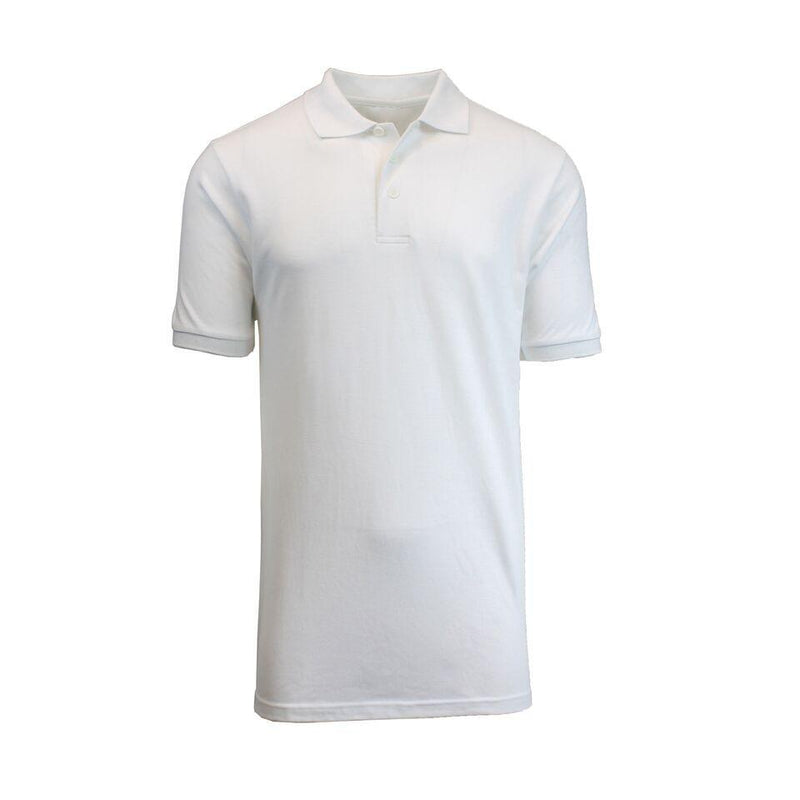 Men's Short-Sleeve Pique Polo Shirts - Assorted Colors and Sizes Men's Apparel XL White - DailySale