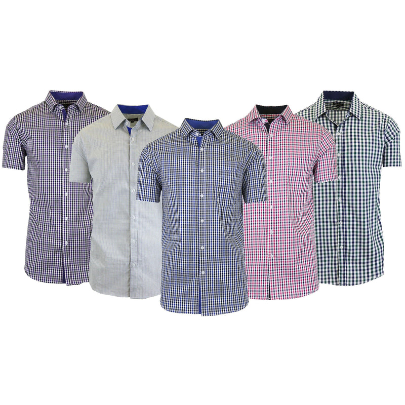 Men's Short Sleeve Slim-Fit Casual Dress Shirts Men's Apparel - DailySale