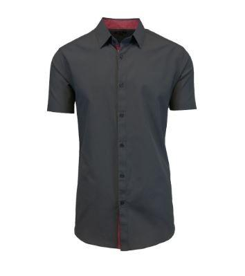 Men's Short-Sleeve Slim-Fit Shirt with Contrast Trim - Assorted Colors and Sizes Men's Apparel - DailySale