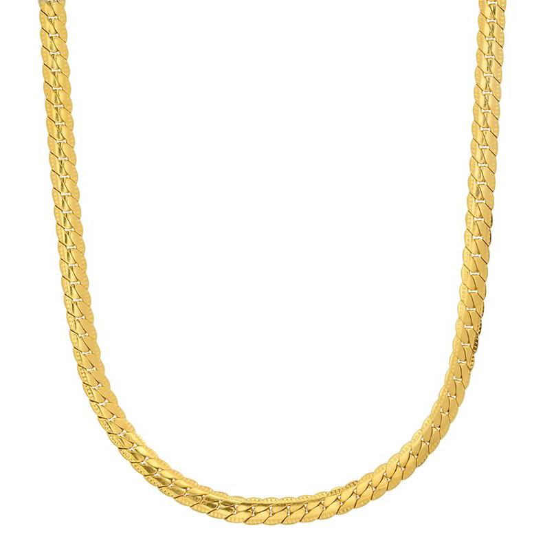 Men's Stainless Steel Curb Cuban Link Chain by Steeltime Jewelry Gold - DailySale