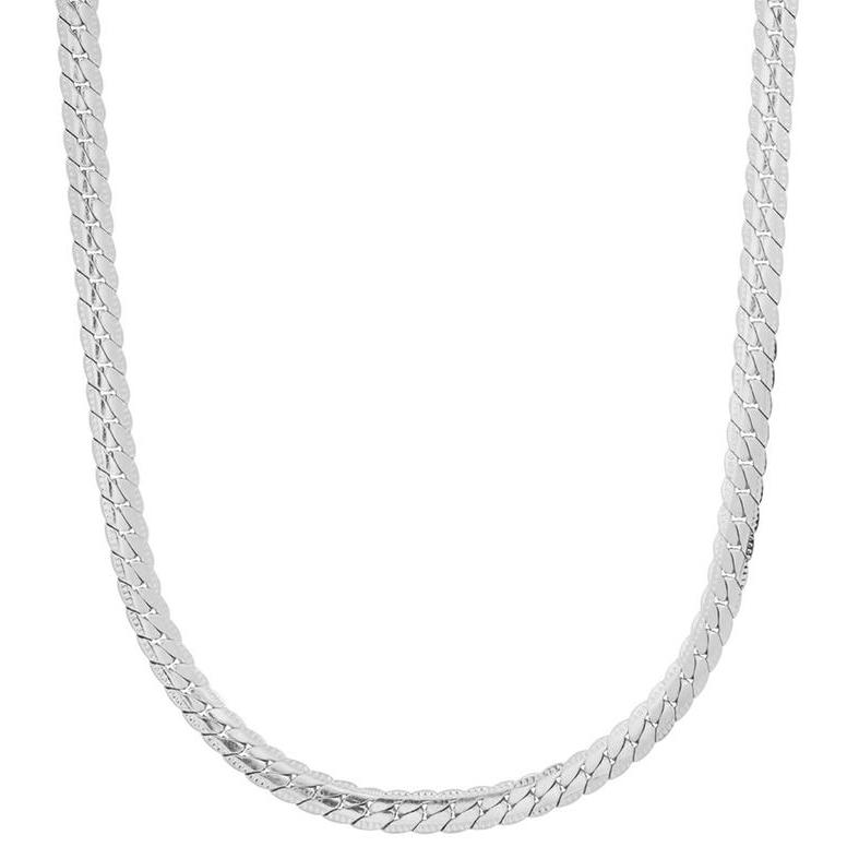 Men's Stainless Steel Curb Cuban Link Chain by Steeltime Jewelry Silver - DailySale