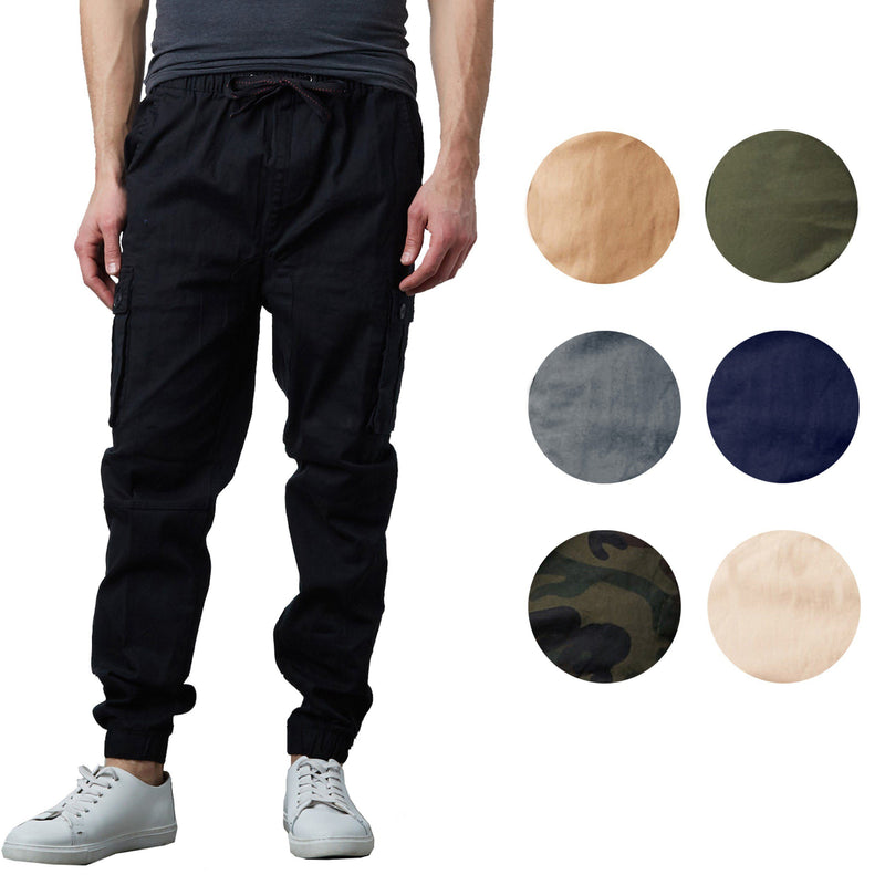 Men's Stretch Cargo Jogger Pants Men's Clothing - DailySale
