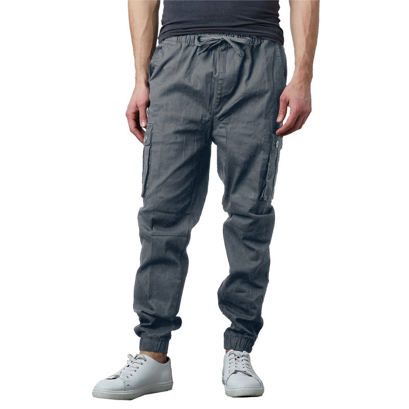 Men's Stretch Cargo Jogger Pants Men's Clothing Gray S - DailySale
