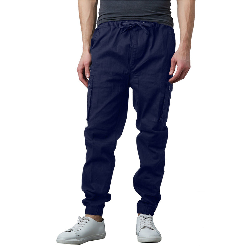 Men's Stretch Cargo Jogger Pants Men's Clothing Navy S - DailySale