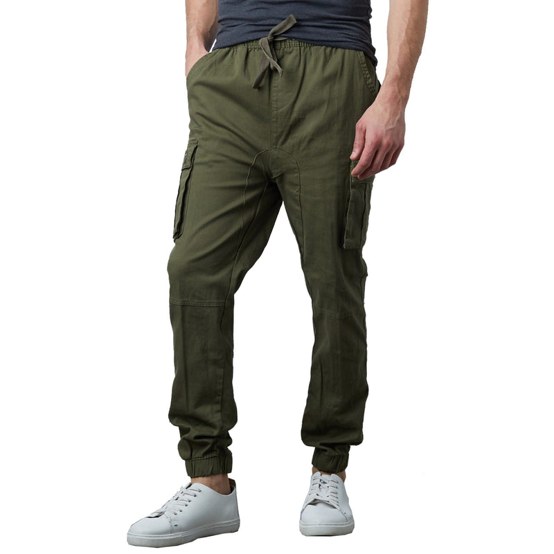 Men's Stretch Cargo Jogger Pants Men's Clothing Olive S - DailySale
