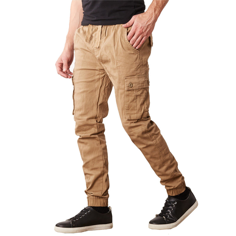 Men's Stretch Cargo Jogger Pants Men's Clothing Timber S - DailySale
