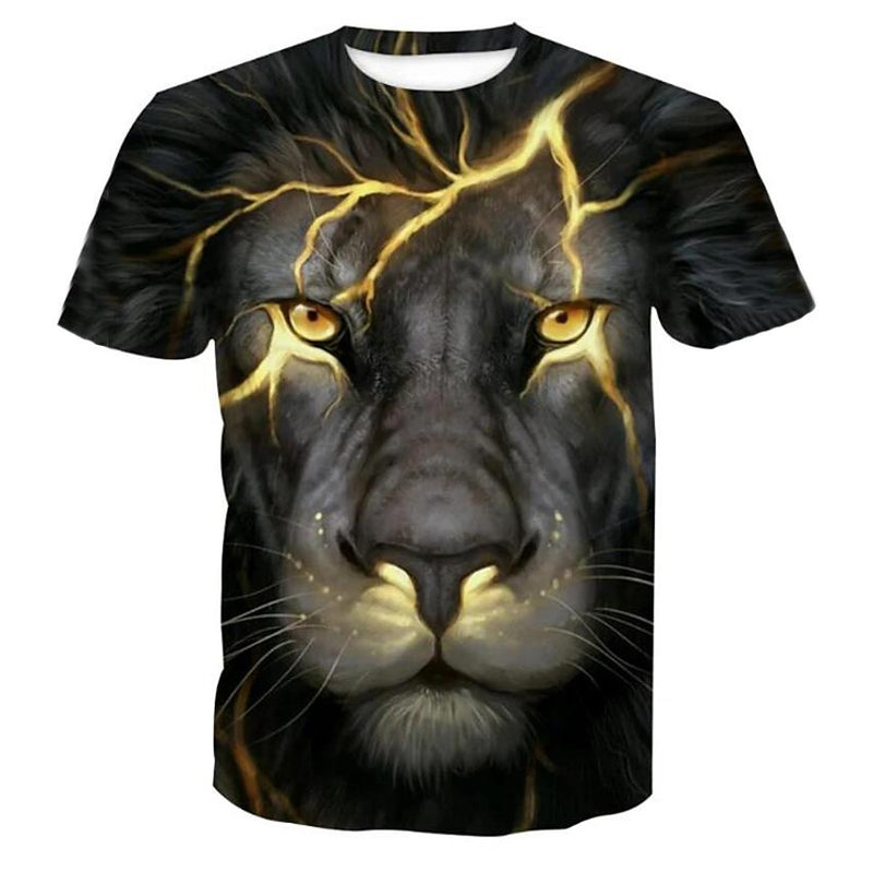 Men's T-Shirt Graphic Animal Plus Size Print Short Sleeve Halloween Tops Men's Clothing Black S - DailySale