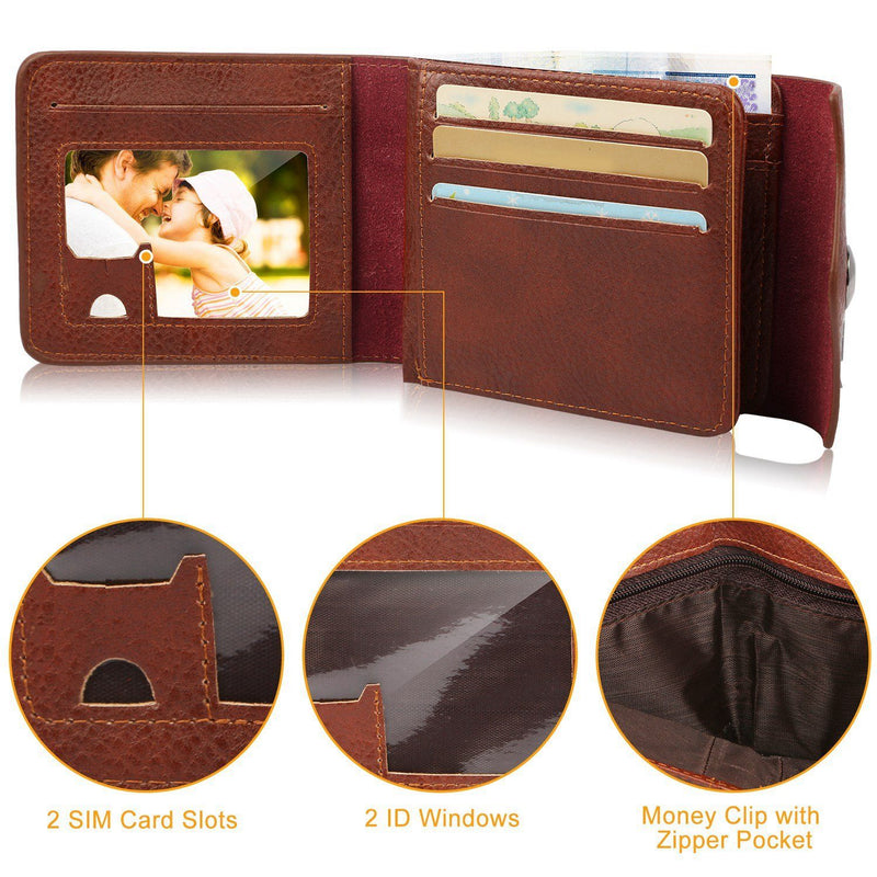 Men's Wallet PU Leather BiFold RFID Blocking Card Holder Men's Accessories - DailySale