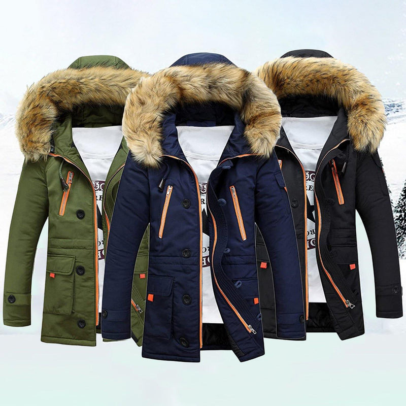Men's Winter Hooded Down Coat Parkas Men's Clothing - DailySale