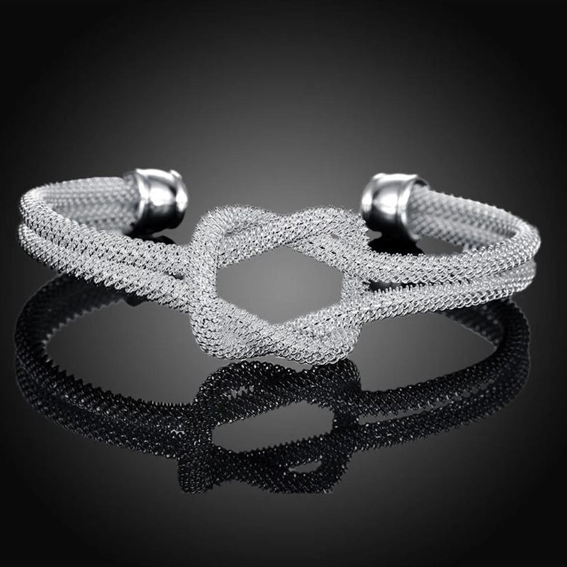 Mesh Love Knotted Adjustable Bangle Jewelry - DailySale