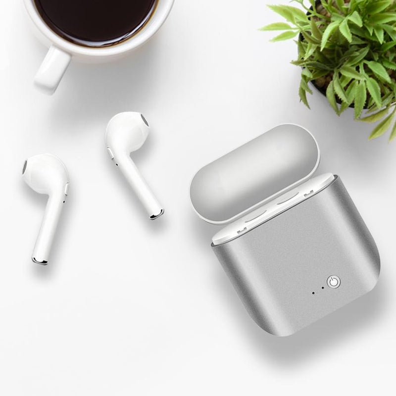 Metallic Wireless Earbuds and Charging Case