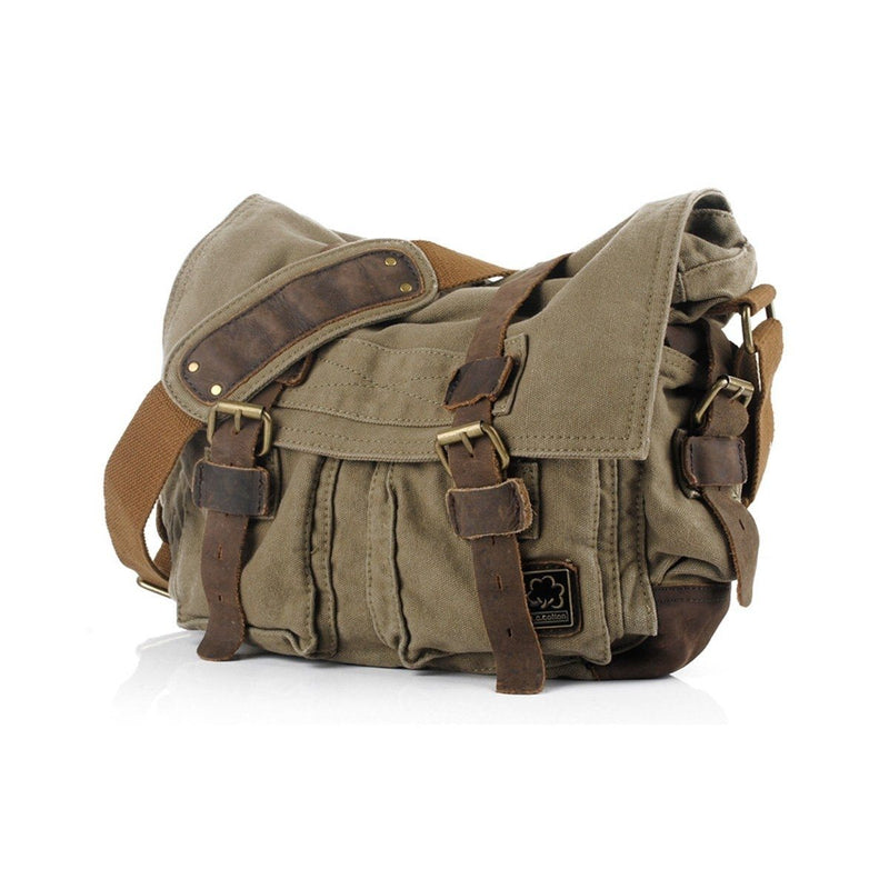 Military Vintage Canvas Crossbody Messenger Bag - Assorted Colors and Sizes Handbags & Wallets M Army Green - DailySale