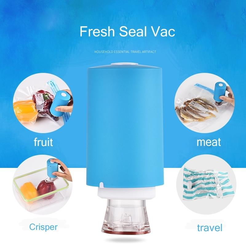 Mini Automatic Compression Vacuum Pump Portable Sealing Food Vacuum Sealer Bags Home Essentials - DailySale