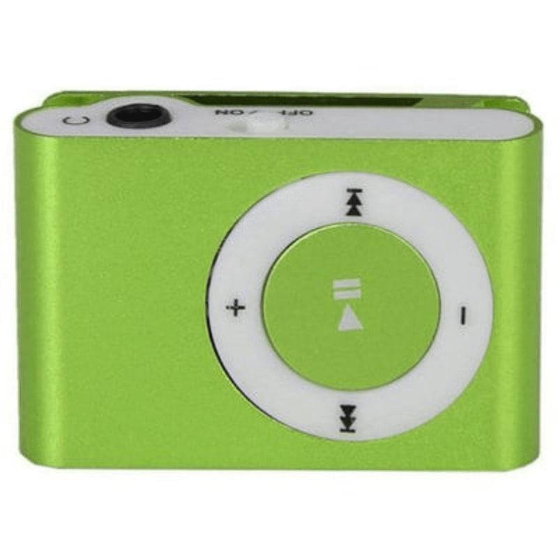 Mini Shuffling MP3 Player with USB Cable and Headphones Gadgets & Accessories Green - DailySale