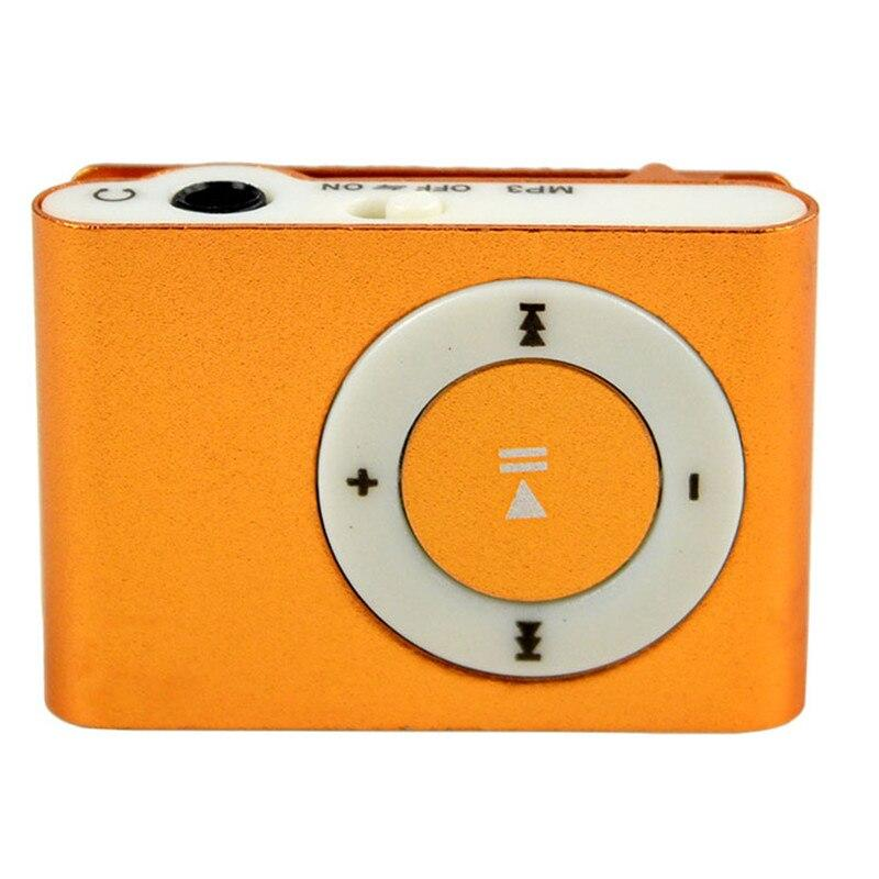 Mini Shuffling MP3 Player with USB Cable and Headphones Gadgets & Accessories Orange - DailySale