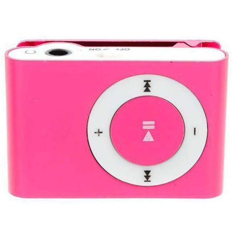 Mini Shuffling MP3 Player with USB Cable and Headphones Gadgets & Accessories Pink - DailySale