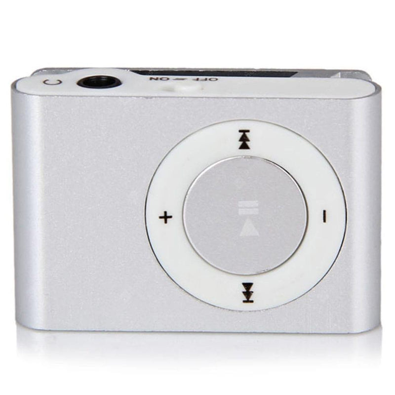 Mini Shuffling MP3 Player with USB Cable and Headphones Gadgets & Accessories Silver - DailySale