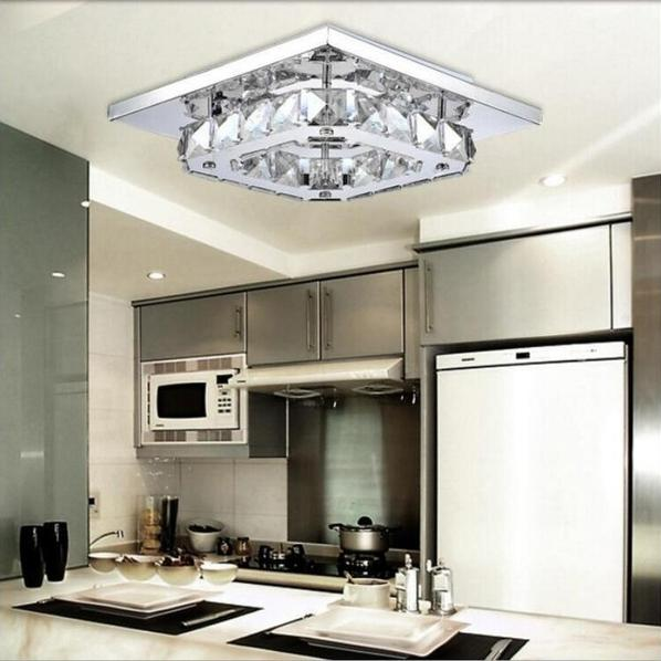 Modern LED Crystal Ceiling Lamp Lighting & Decor - DailySale
