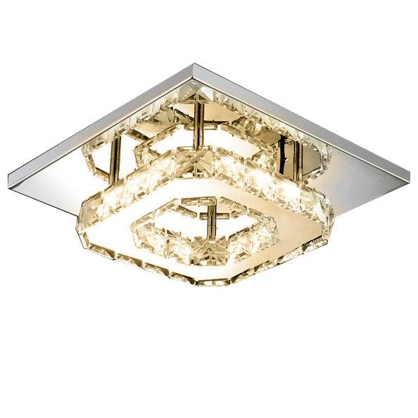 Modern LED Crystal Ceiling Lamp Lighting & Decor Warm White - DailySale