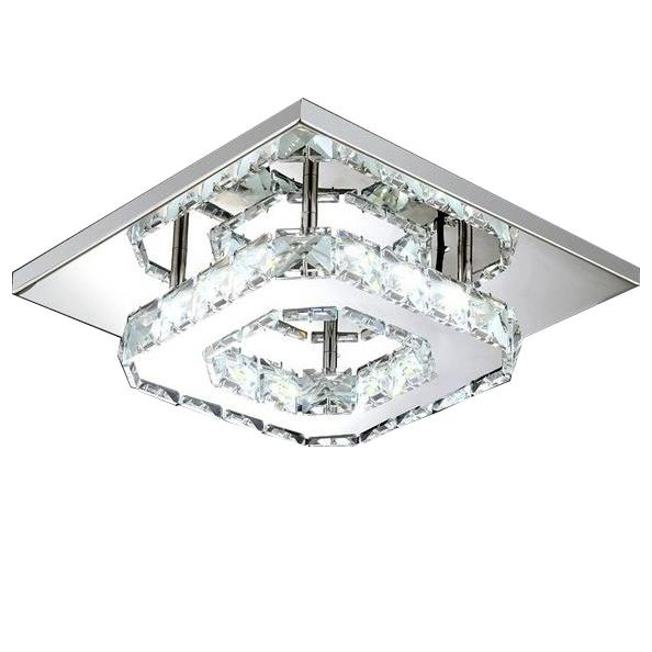Modern LED Crystal Ceiling Lamp Lighting & Decor White - DailySale