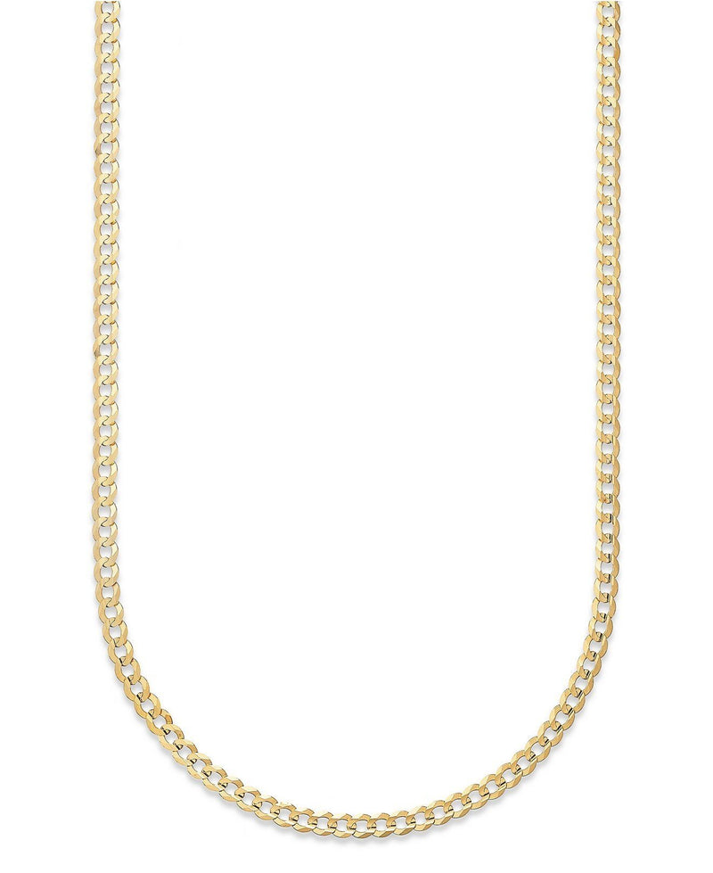 "Moricci 2MM Italian Cuban Chain Necklace in 10K Gold Necklaces 14"" - DailySale"