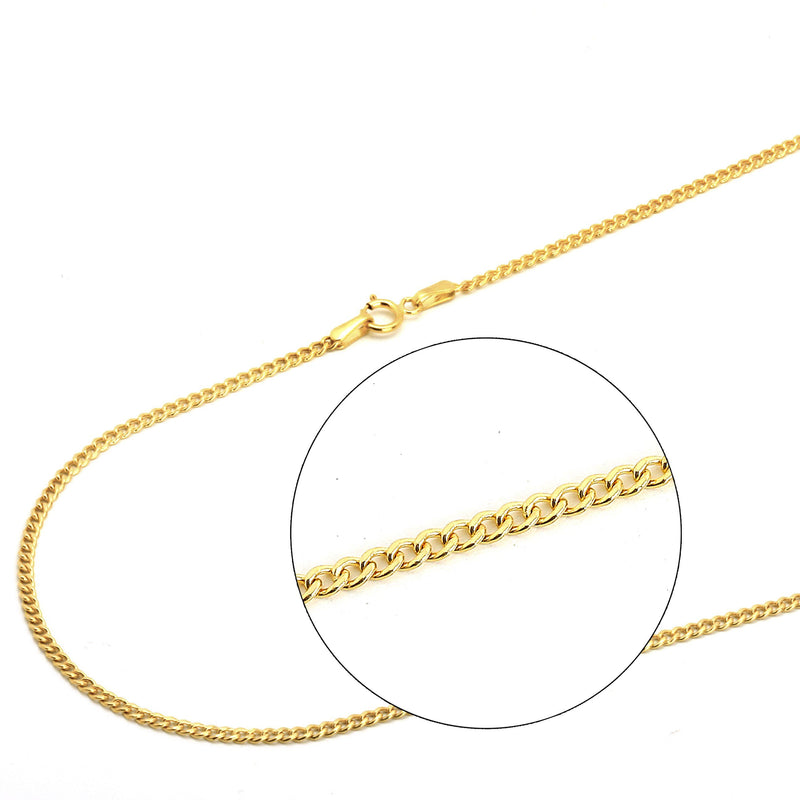 Moricci 2MM Italian Cuban Chain Necklace in 10K Gold Necklaces - DailySale