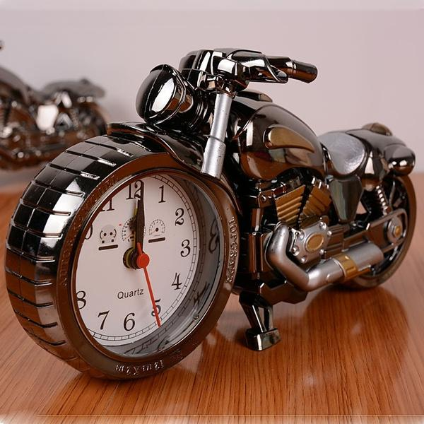 Motorcycle Alarm Clock Household Appliances Black - DailySale