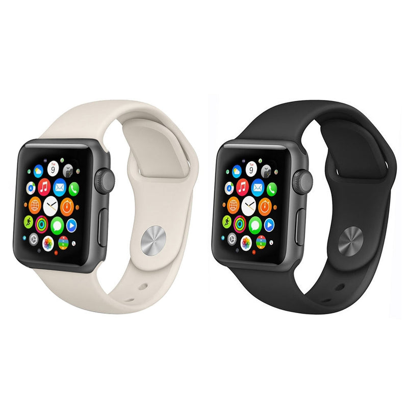 2-Pack: Silicone Apple Watch Straps - DailySale, Inc