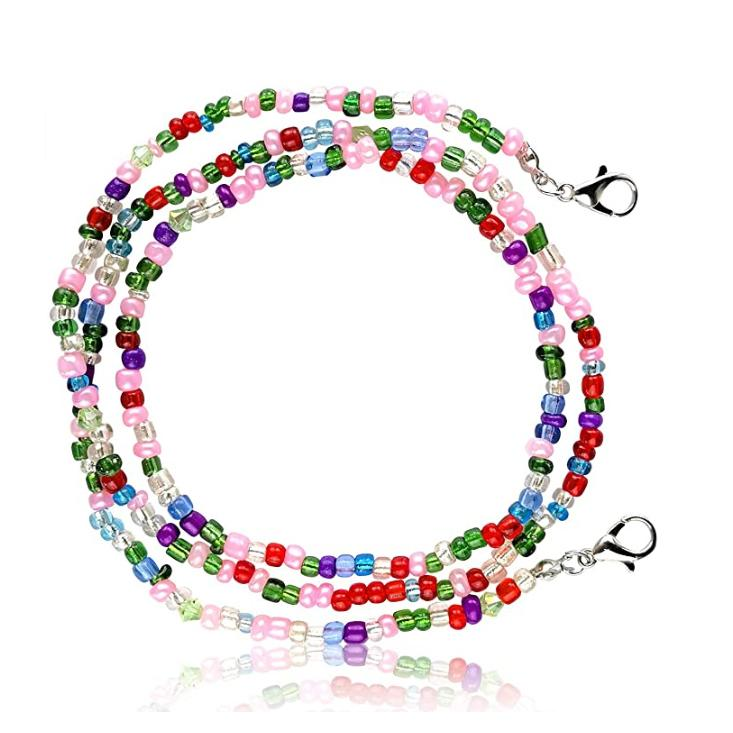 Multi-Color Face Mask Holder Beads Chain