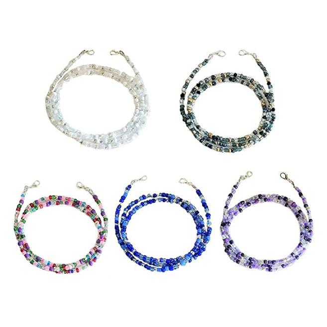 Multi-Color Face Mask Holder Beads Chain Face Masks & PPE - DailySale