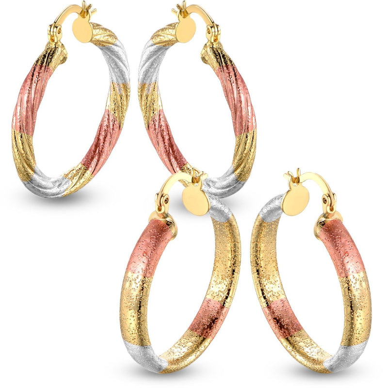 Multi Gold Hoop Earrings - Assorted Styles Jewelry - DailySale