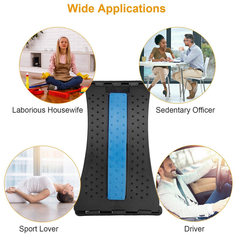 Multi-Level Lumbar Spinal Support Stretcher Wellness - DailySale