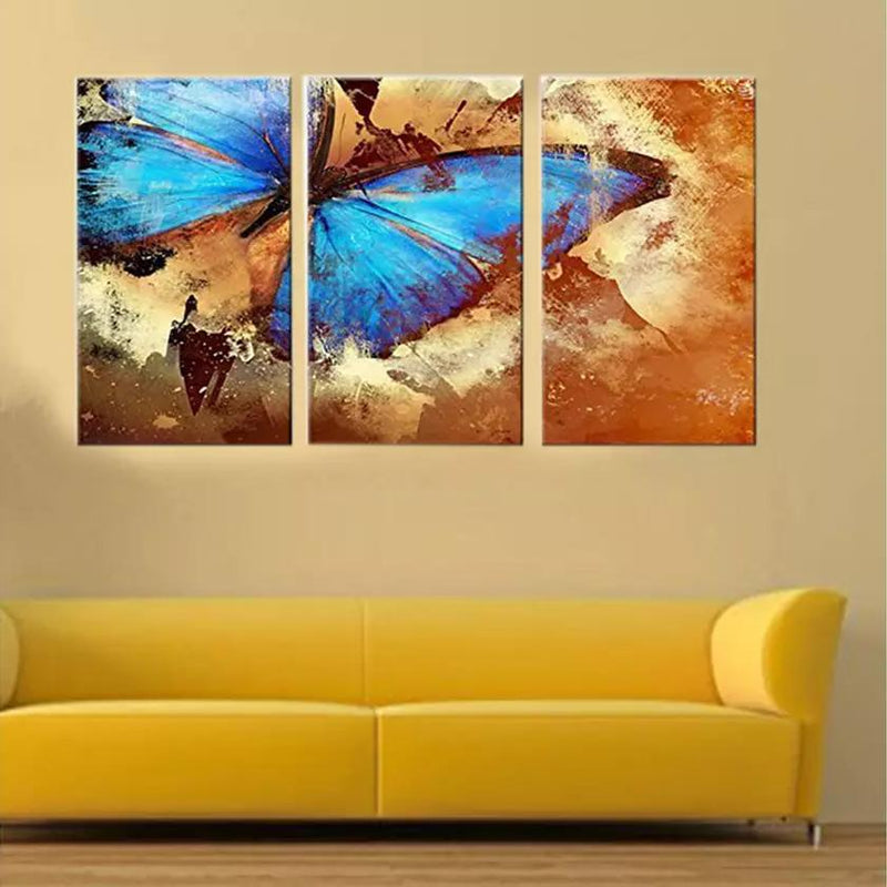 Multi-Panel Modern Abstract Paintings on Canvas Stretched on Wood Lighting & Decor Butterfly - DailySale