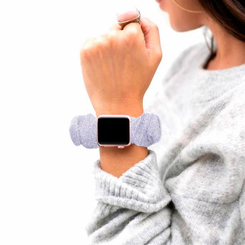 Multifunction Hair Scrunchie Apple Watch Band - Assorted Colors Gadgets & Accessories - DailySale