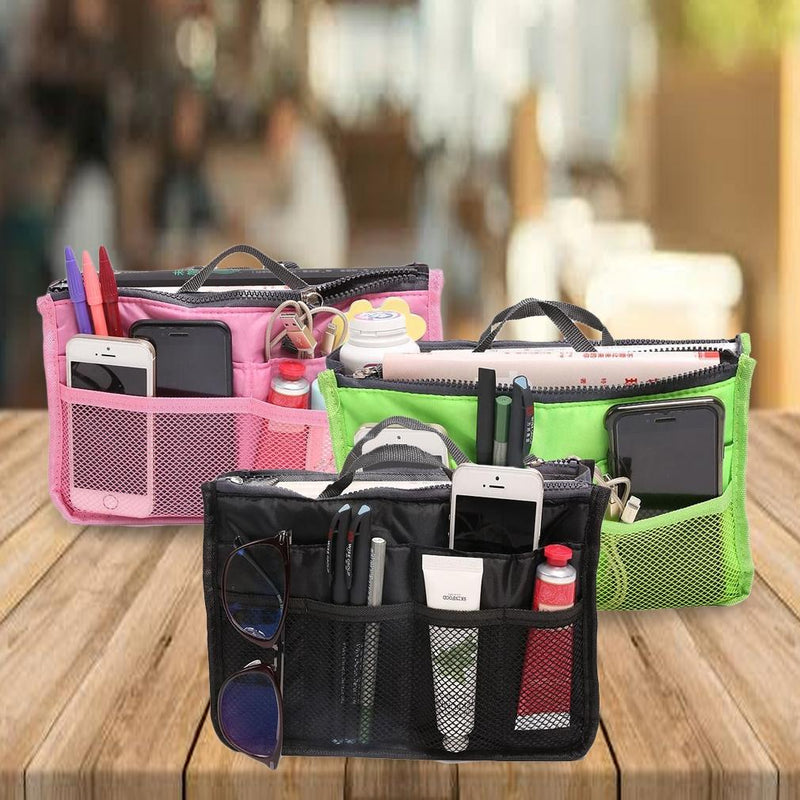 Multiple Pockets Cosmetic/Purse Organizer Bag Home Essentials - DailySale