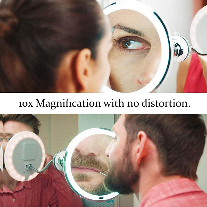 "My Flexible Mirror 10x Magnification 7"" Make Up Round Vanity Mirror Beauty & Personal Care - DailySale"