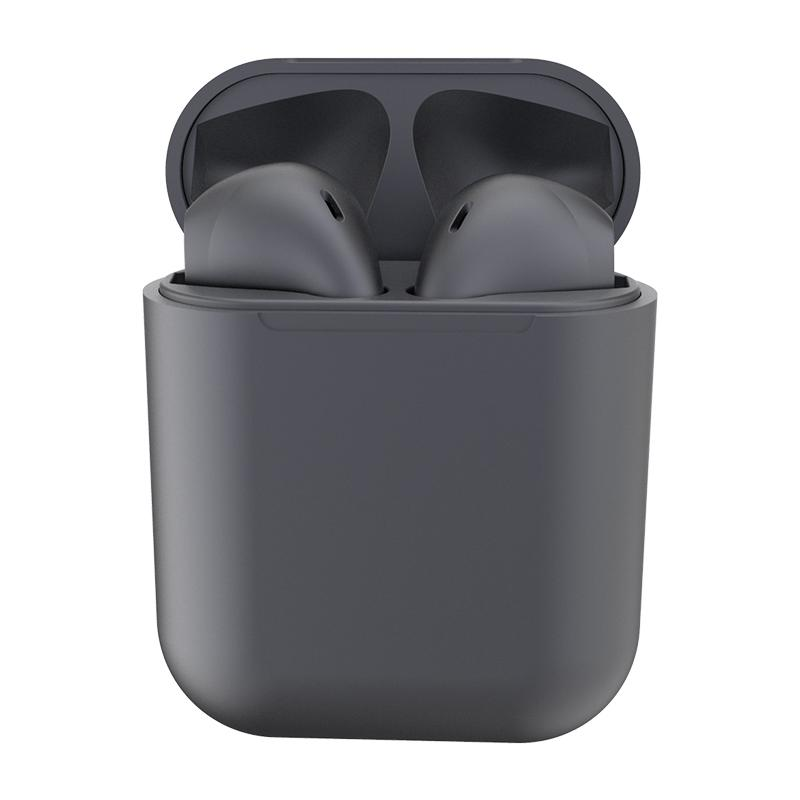 New Metal Inpods TWS Mini Wireless Bluetooth Earphones Headphones & Speakers Dark Gray - DailySale
