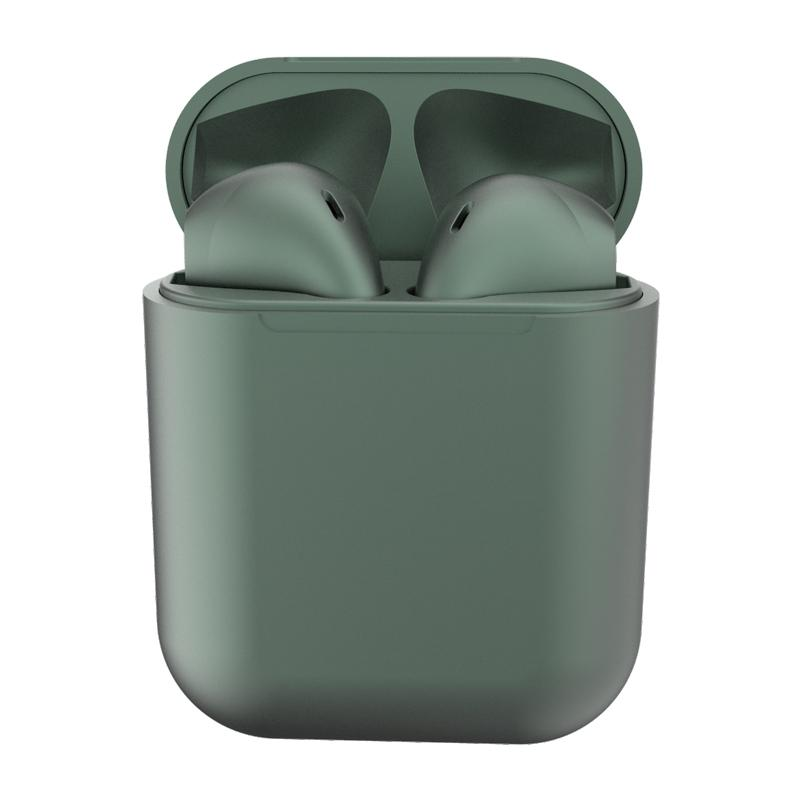 New Metal Inpods TWS Mini Wireless Bluetooth Earphones Headphones & Speakers Dark Green - DailySale
