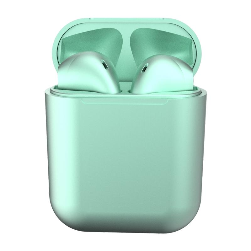 New Metal Inpods TWS Mini Wireless Bluetooth Earphones Headphones & Speakers Light Green - DailySale
