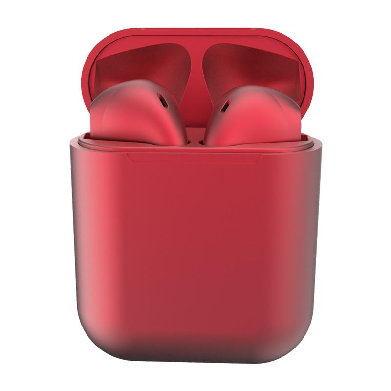 New Metal Inpods TWS Mini Wireless Bluetooth Earphones Headphones & Speakers Red - DailySale